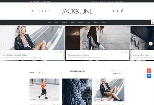 June Blog 1 WordPress Theme