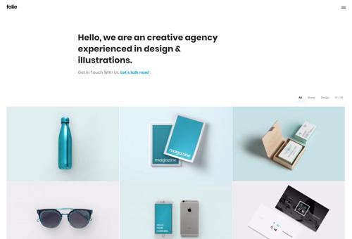 Folie Portfolio Agency WordPress Theme