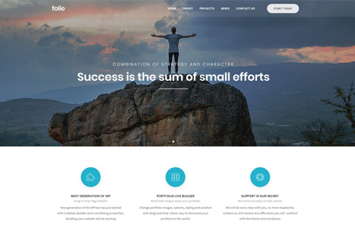 Folie Small Business WordPress Theme