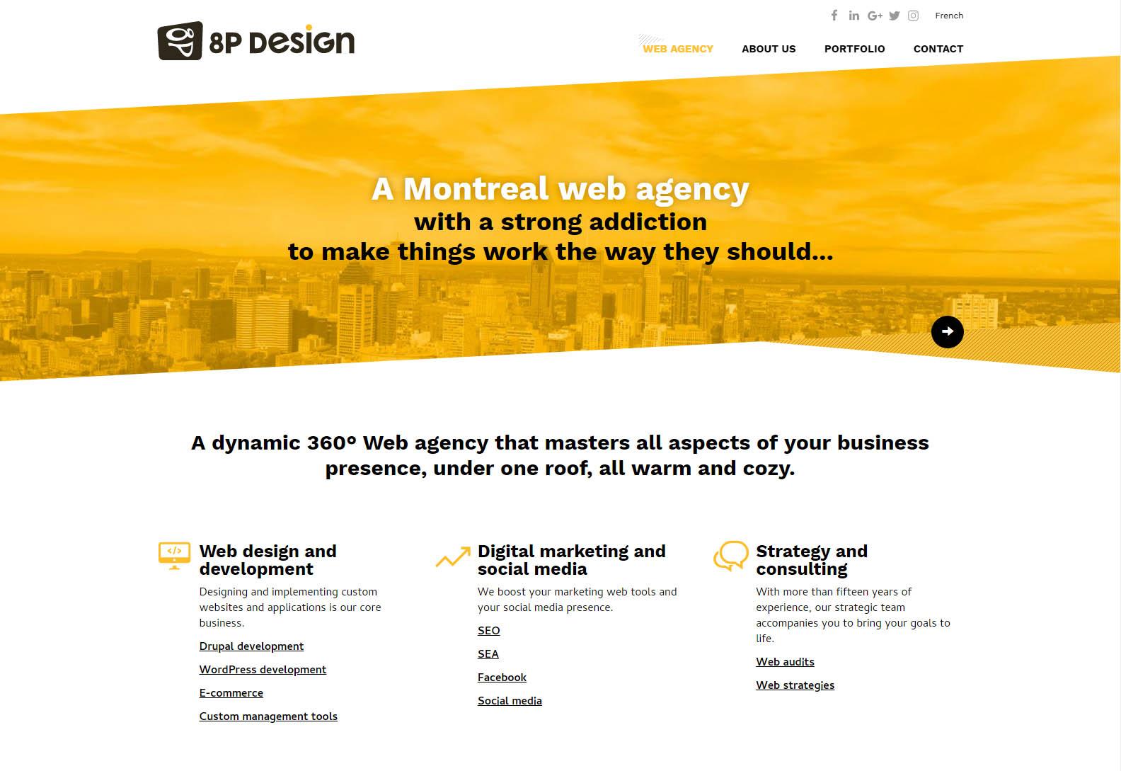 8p design - Web design agencies Montreal