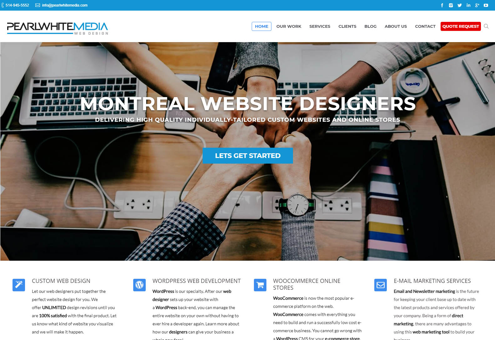 Pearl White Media - Web design agencies Montreal