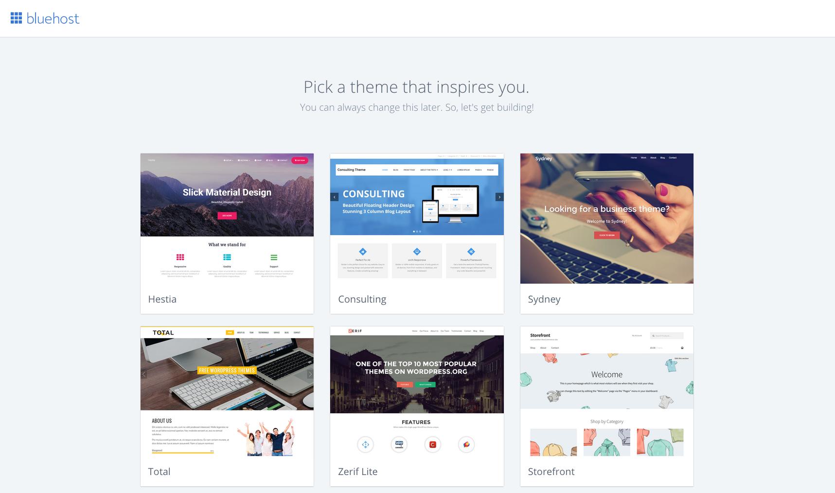 Pick WordPress theme for your blog