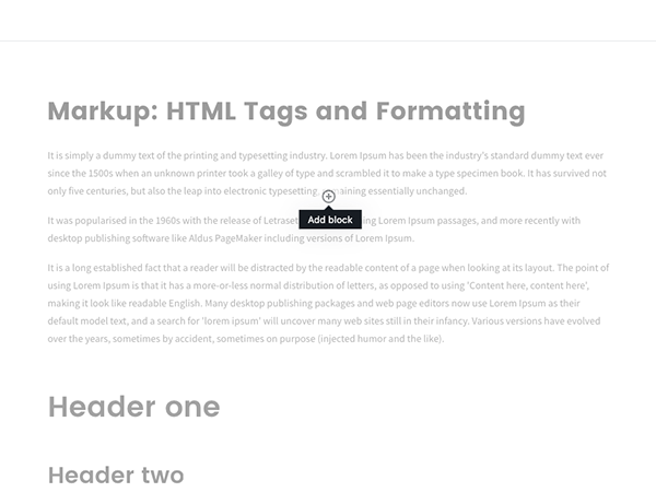 Add Block - Continue Reading Block Gutenberg