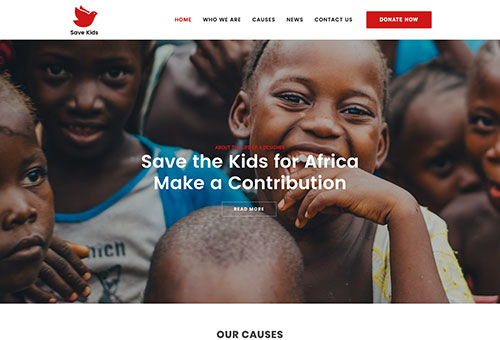 Specular Charity WordPress Theme