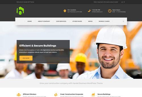 Handel Construction Dark WordPress Theme