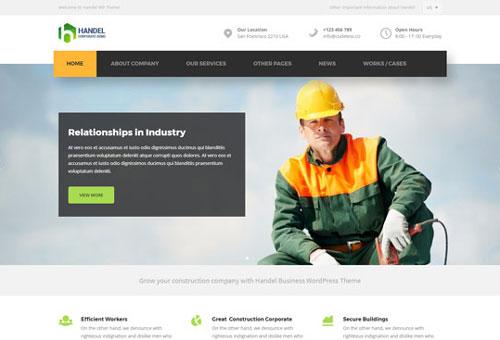 Handel Construction WordPress Theme