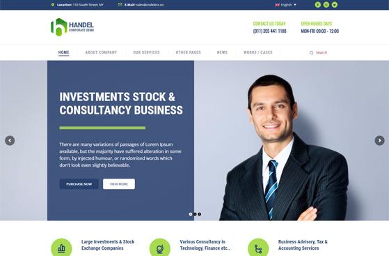 Handel Corporate WordPress Theme
