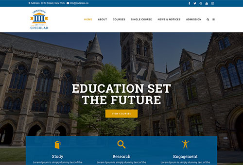 Specular Education WordPress Theme