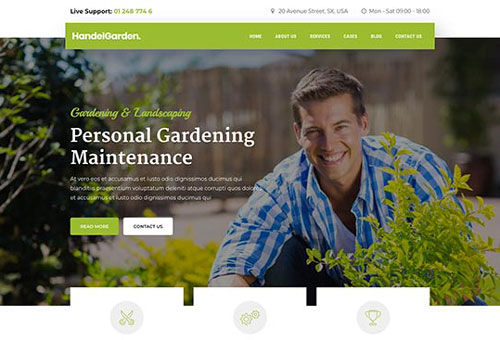 Handel Gardening WordPress Theme
