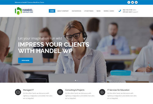 Handel IT Services WordPress Theme