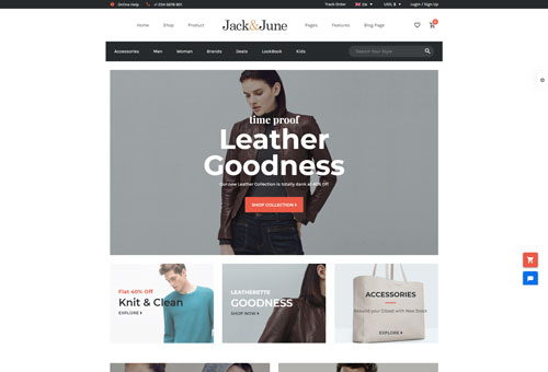 June Shop 9 WordPress Theme