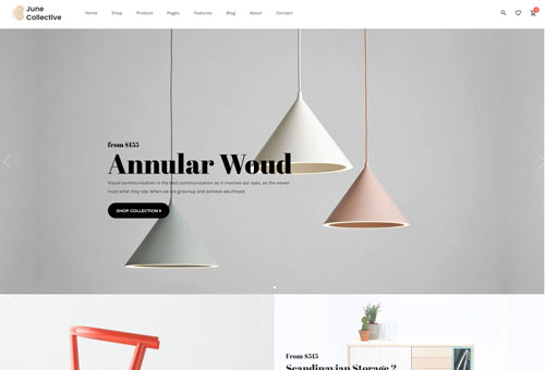 June Furniture WordPress Theme