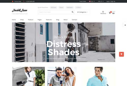 June Shop 3 WordPress Theme