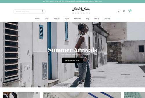 June Shop 5 WordPress Theme