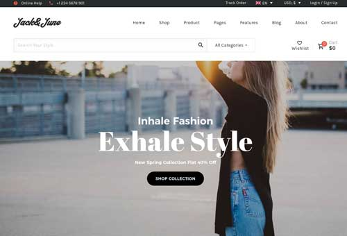 June Shop 8 WordPress Theme