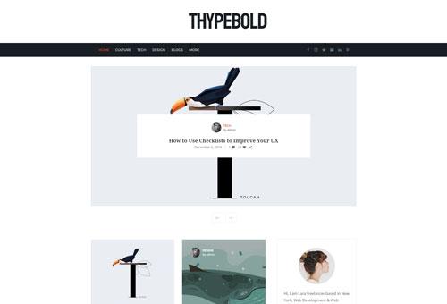 Thype Blog Alternative WordPress Theme