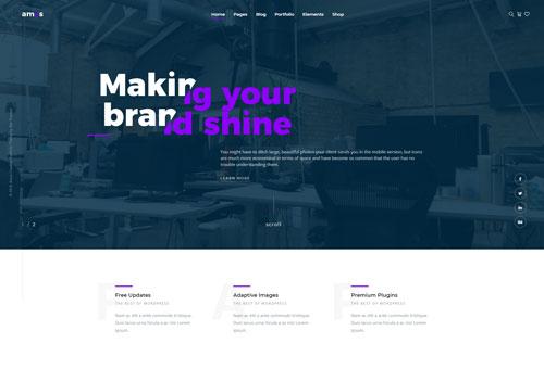 Amos – Default WordPress Theme