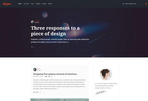Thype Image Slider WordPress Theme