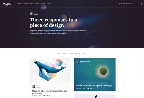 Thype Blog Image WordPress Theme