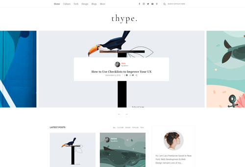 Thype Slider Carousel WordPress Theme