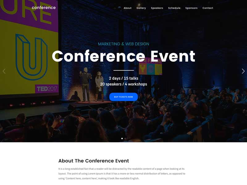 10 Best Wordpress Conference Themes 2021 Free Paid