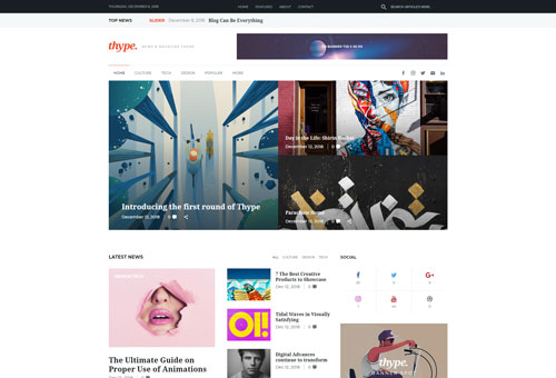 Thype Magazine WordPress Theme