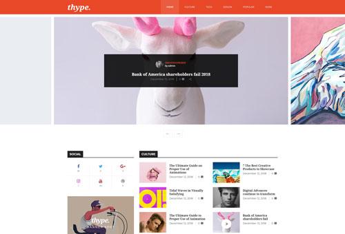 Thype Magazine Slider WordPress Theme