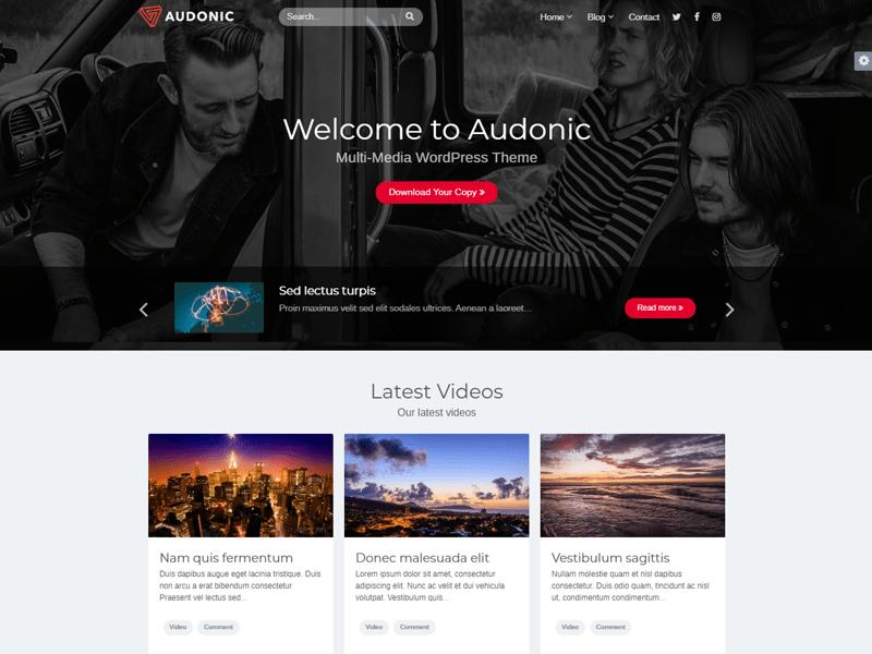 Audonic WordPress Podcast theme