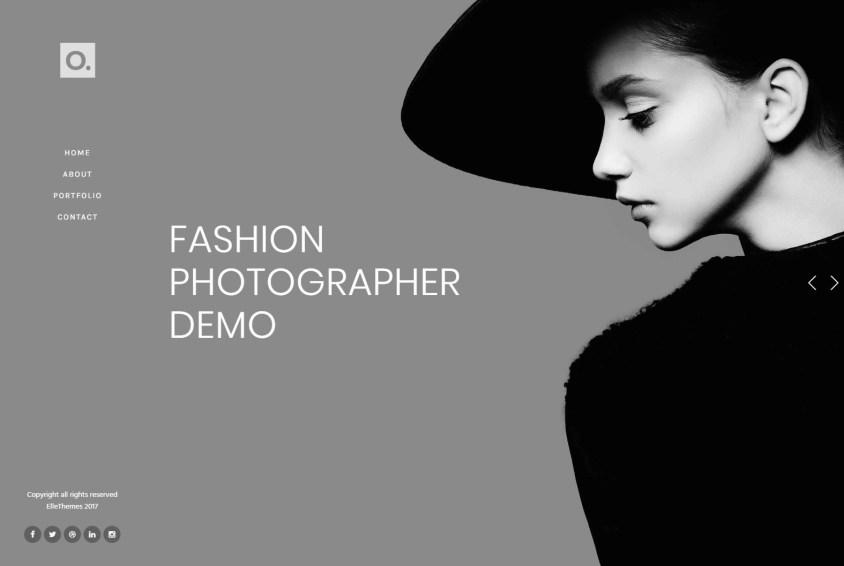 Onero Photo Studio WordPress Theme