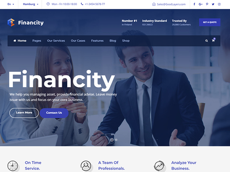 Financity Business Financial Finance