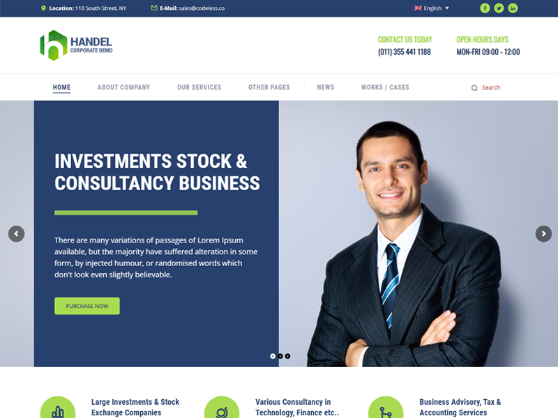 handel wordpress theme
