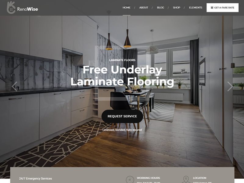 Best Renowise Construction Company WordPress Theme