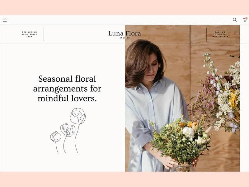 Luna Flora Webflow theme