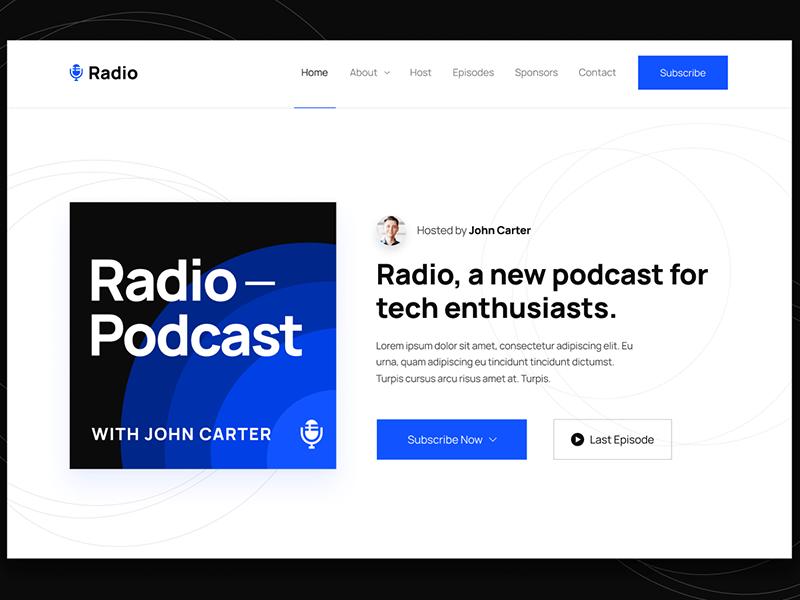Radio podcast webflow template
