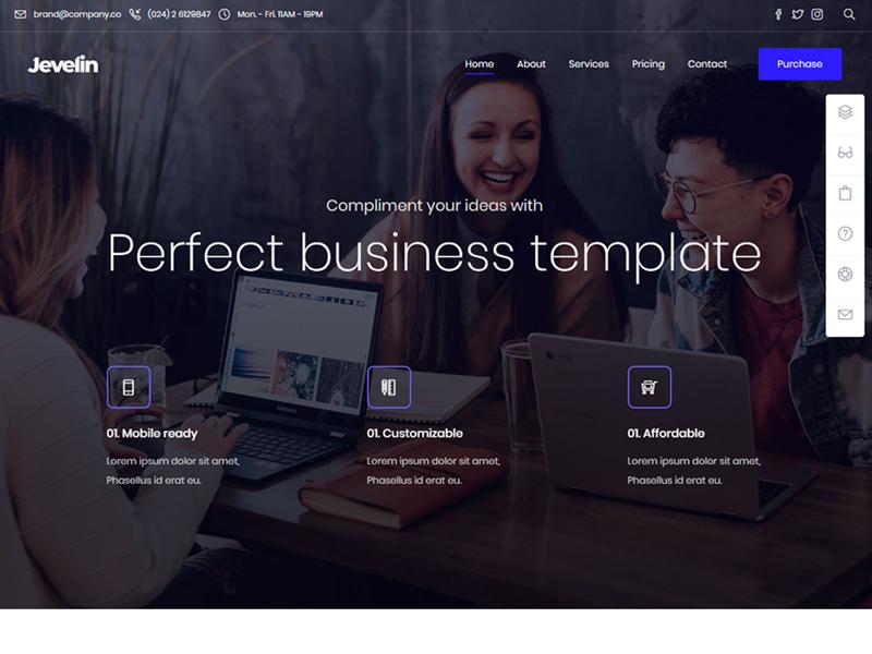 Jevelin Business WordPress Theme