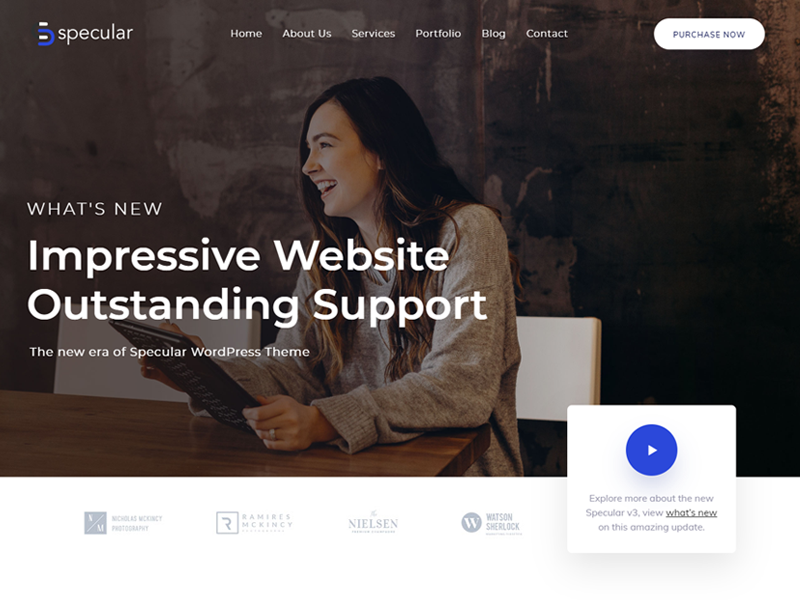 Specular Bootstrap WordPress theme