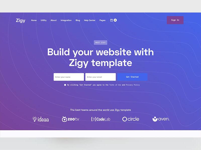 Zigy Webflow Saas template
