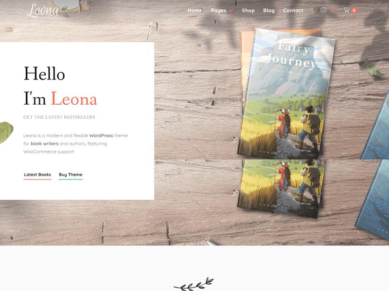 Leona WordPress themes for writers