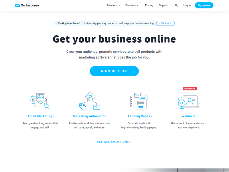 getresponse - email marketing platform