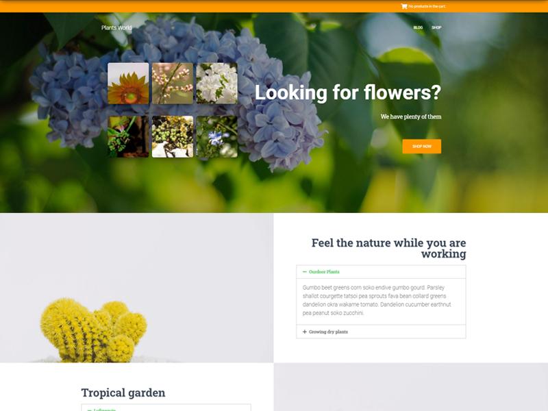 Hestia woocommerce flowers