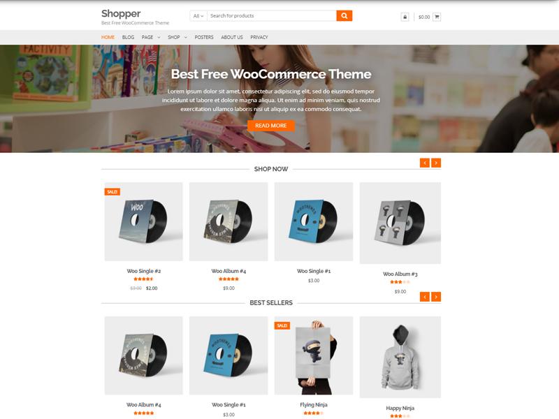 Shopper Free Ecommerce WordPress Theme