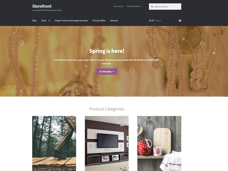 Storefront Free WordPress eCommerce theme