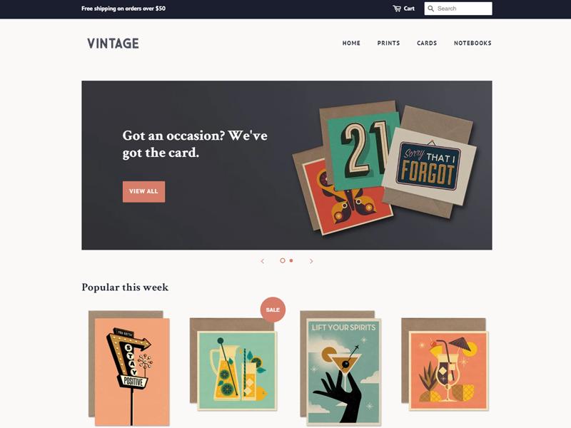 Minimal Free Shopify Theme