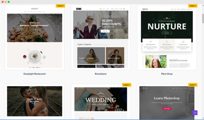 Ux Astra: templates