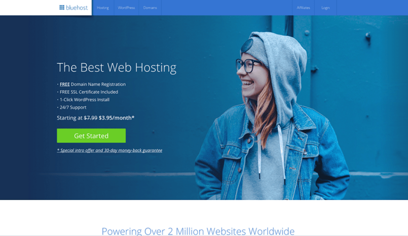 Configuring Bluehost with WordPress