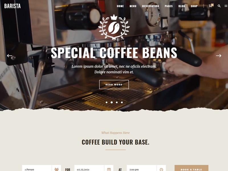 Barista: Coffee WordPress theme