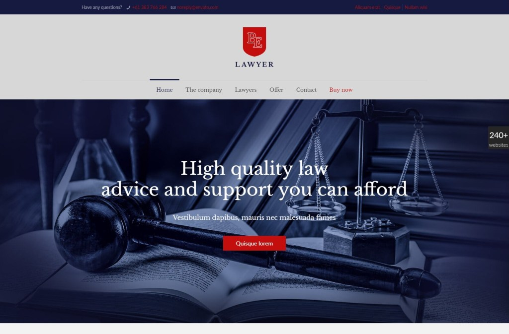 BeTheme law practice wordpress theme