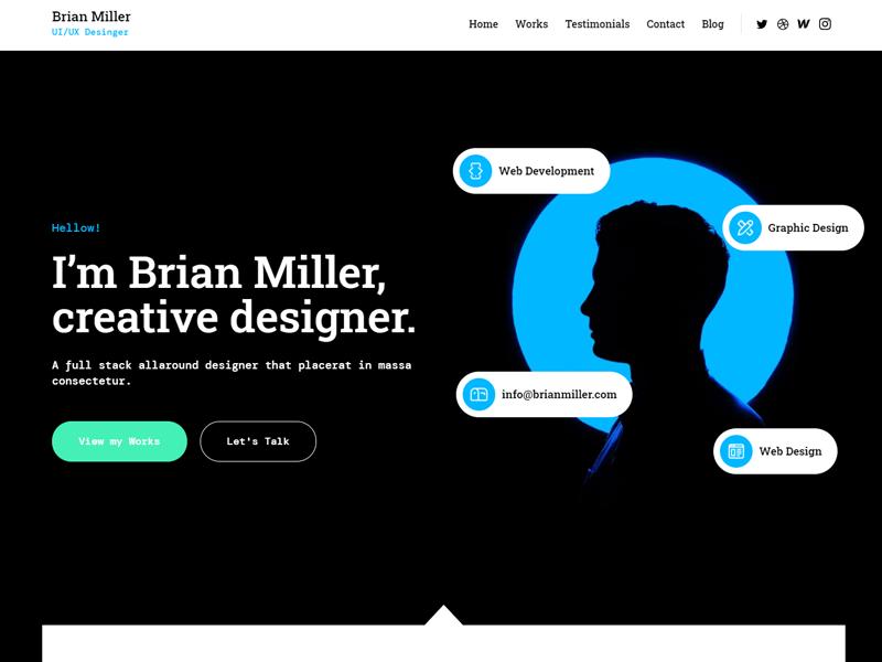 Best Webflow Templates: Brian Miller webflow theme