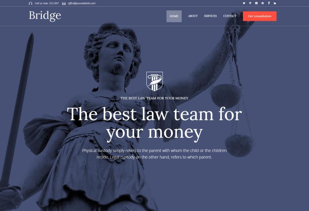 Bridge law firm wordpress theme