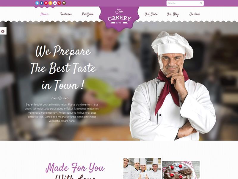 Cakeryshop Cake WordPress theme